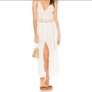 ⬇️AMUSE SOCIETY White Crocheted Pria Cami Dress